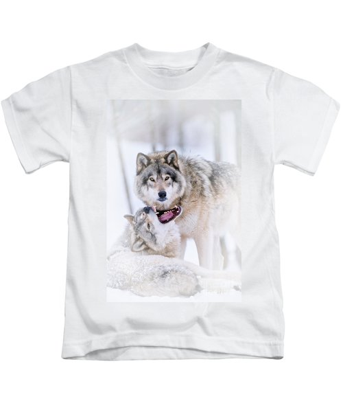 Timber Wolf Pictures 56 Kids T-Shirt