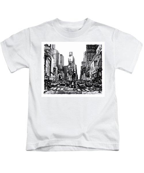 Times Square   New York City Kids T-Shirt