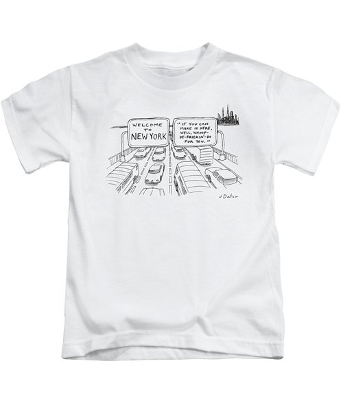 Welcome To New York Kids T-Shirt