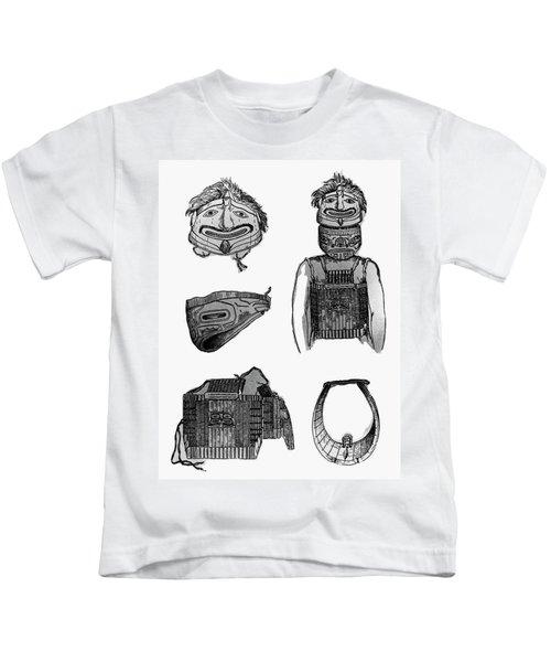 Tlingit Artifacts, C1804 Kids T-Shirt