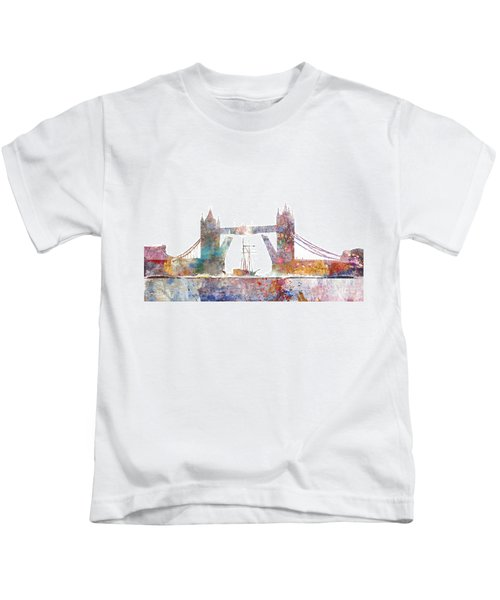 Tower Bridge Colorsplash Kids T-Shirt