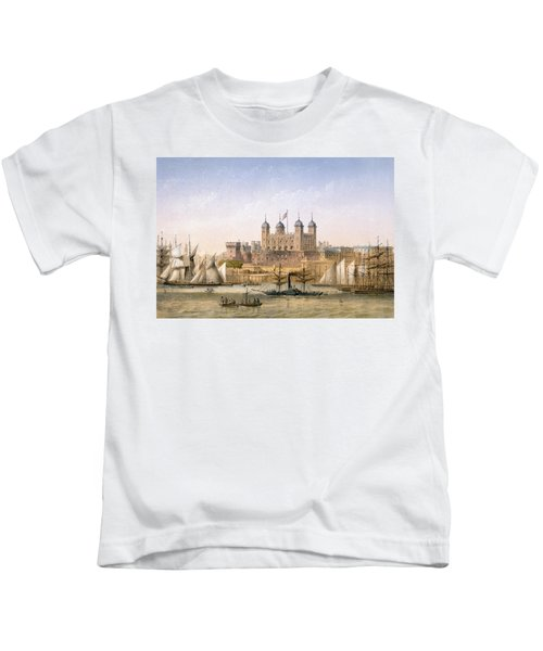 Tower Of London, 1862 Kids T-Shirt by Achille-Louis Martinet