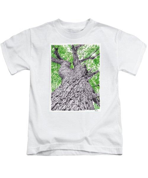Tree Pen Drawing 4 Kids T-Shirt