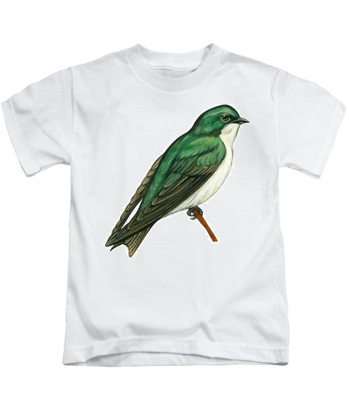 Tree Swallow  Kids T-Shirt by Anonymous