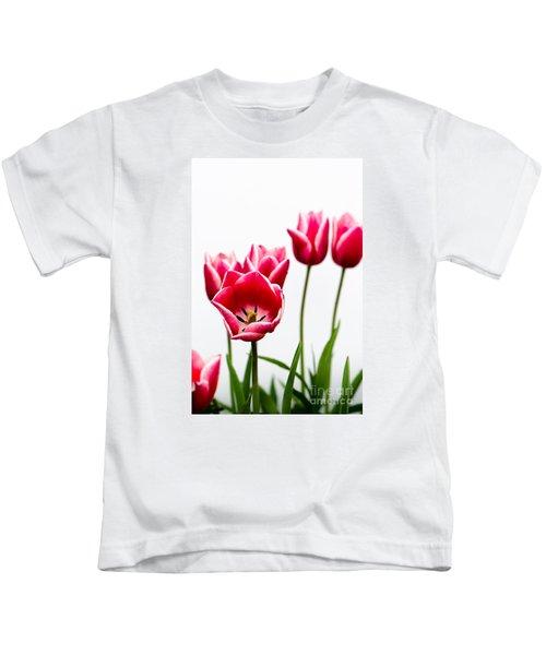 Tulips Say Hello Kids T-Shirt