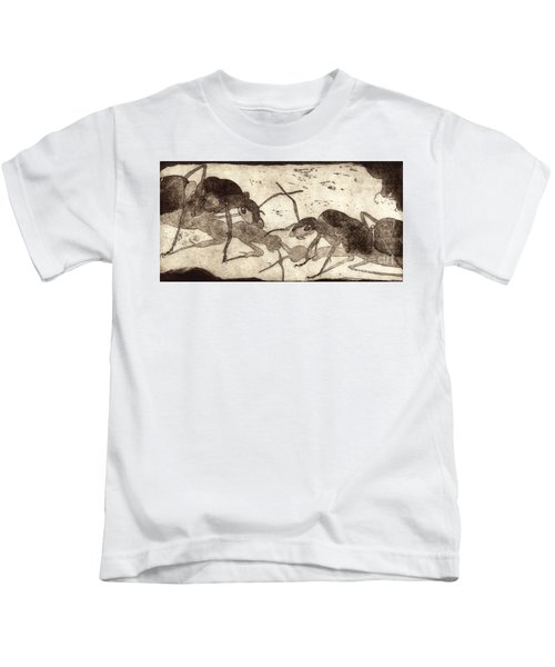 Two Ants In Communication - Etching Kids T-Shirt