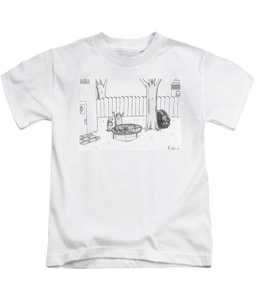 Two Children Excitedly Look At A Web Disguised Kids T-Shirt