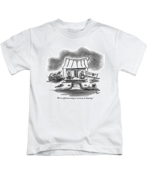 Two Country Folk Are Seen Sitting On Their Porch Kids T-Shirt