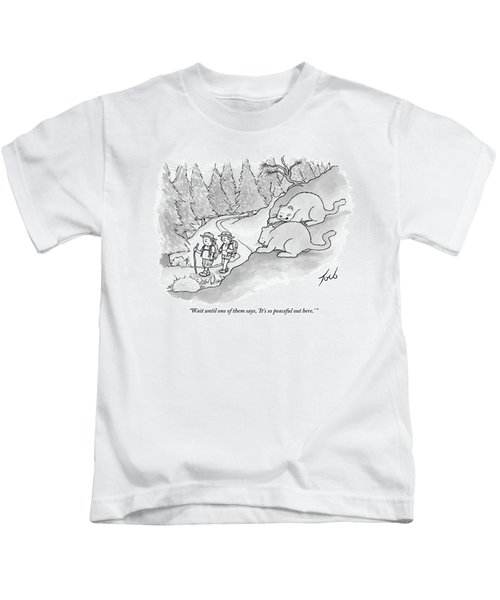 Two Fat Mountain Lions Plan The Perfect Attack Kids T-Shirt
