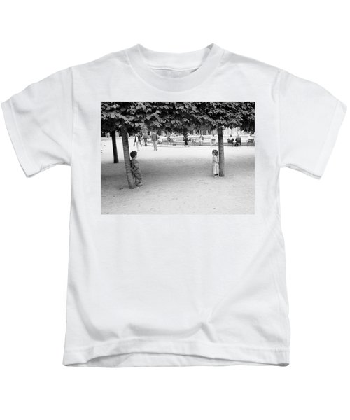 Two Kids In Paris Kids T-Shirt