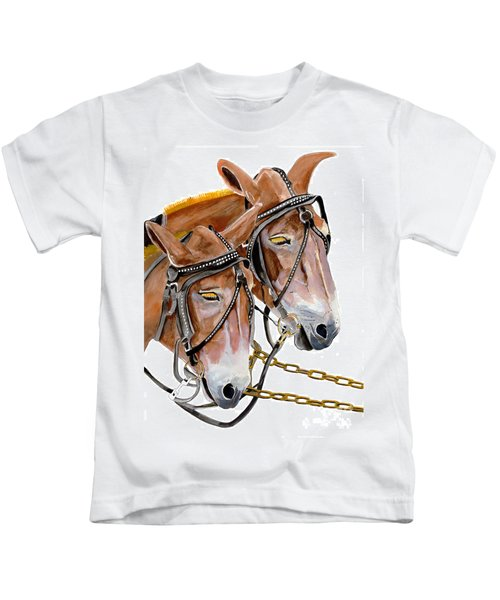 Two Mules - Enhanced Color - Farmer's Friend Kids T-Shirt