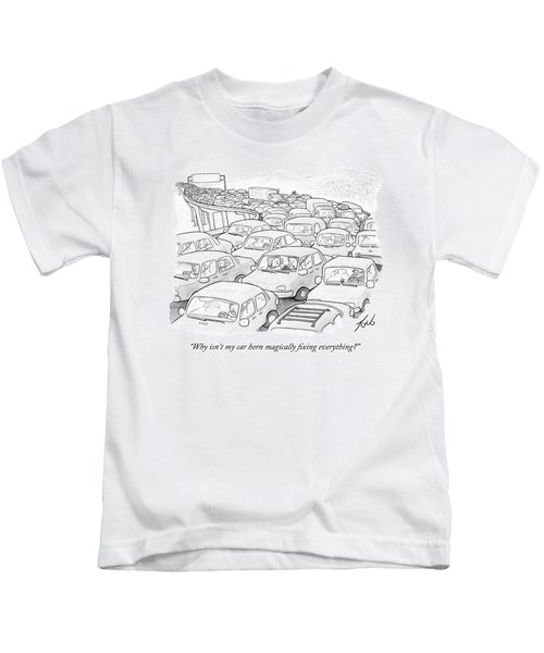 Two People In A Car Speak While Sitting Kids T-Shirt