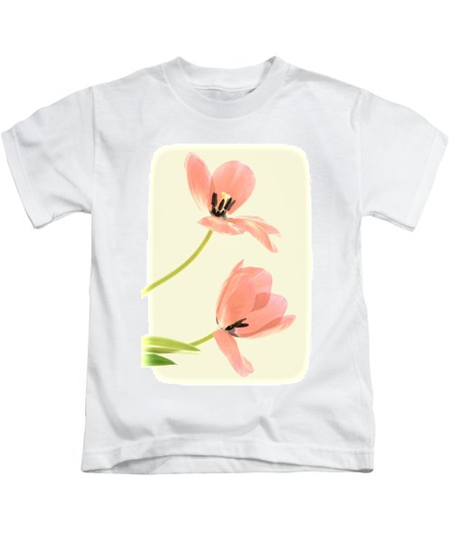 Two Tulips In Pink Transparency Kids T-Shirt