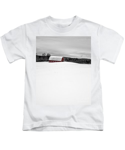 Under A Blanket Of Snow Christmas On The Farm Kids T-Shirt