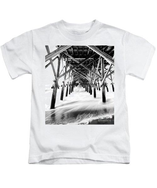 Under The Pier Folly Beach Kids T-Shirt