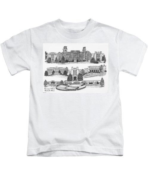 University Of Arkansas Fayetteville Kids T-Shirt by Liz  Bryant