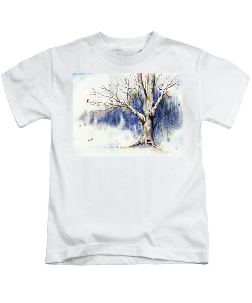 Untitled Winter Tree Kids T-Shirt
