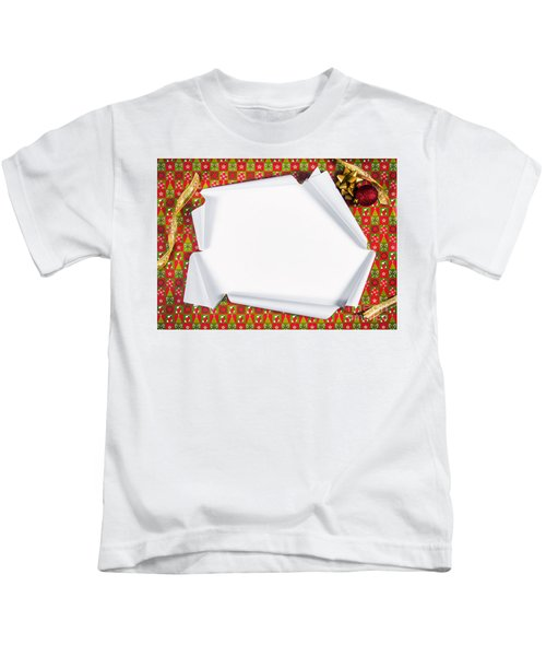 Unwrapping Gifts Kids T-Shirt