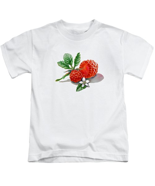 Artz Vitamins A Very Happy Raspberry Kids T-Shirt by Irina Sztukowski