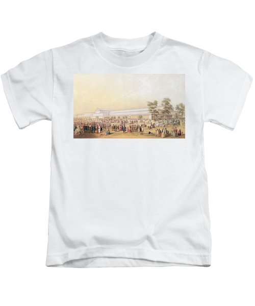View Of The Crystal Palace Kids T-Shirt by George Baxter