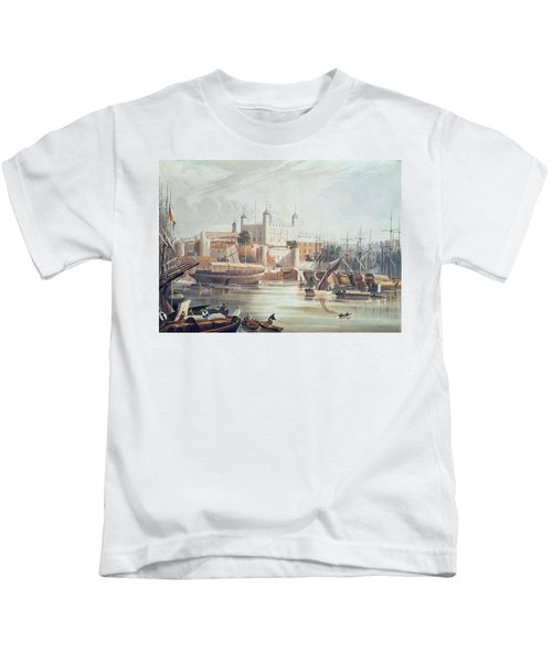 View Of The Tower Of London Kids T-Shirt by John Gendall