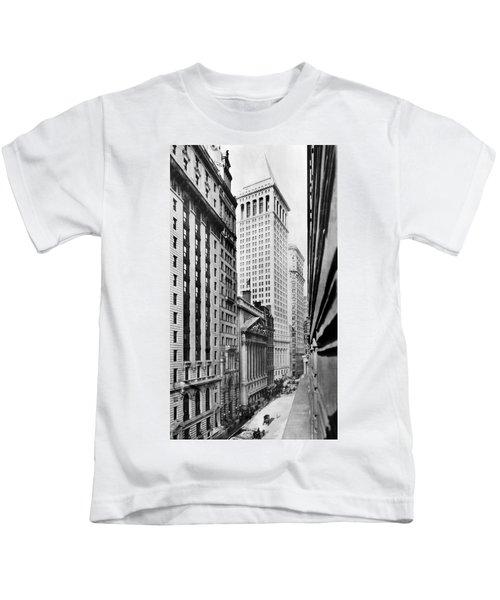 View Of Wall Street Kids T-Shirt