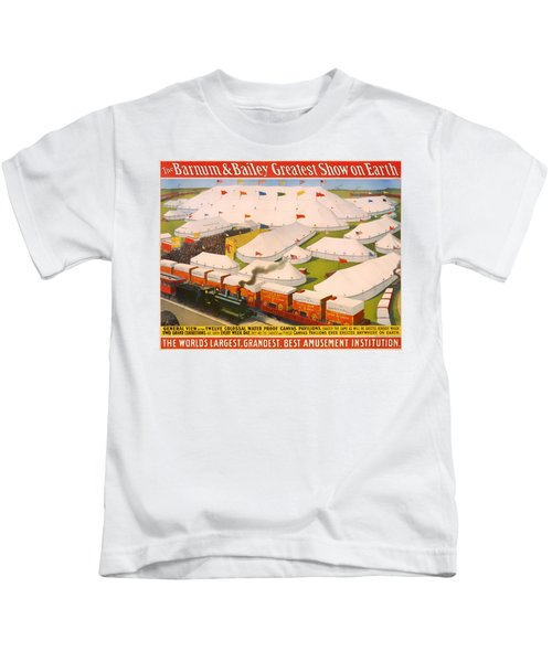 Vintage Barnum And Bailey Poster Kids T-Shirt