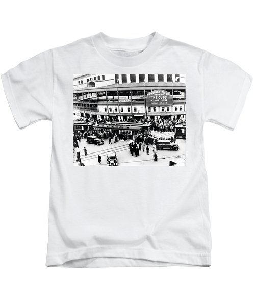 Vintage Wrigley Field Kids T-Shirt