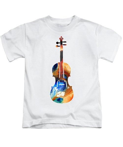 Violin Art By Sharon Cummings Kids T-Shirt