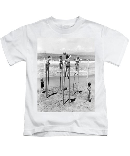 Volleyball On Stilts Kids T-Shirt