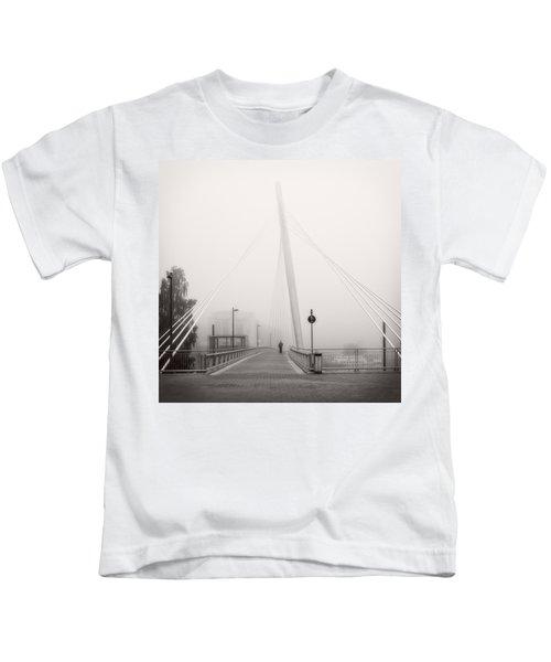Walking Through The Mist Kids T-Shirt