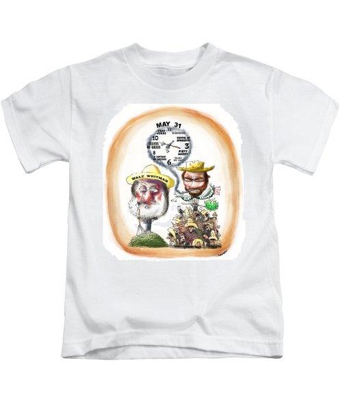 Walt Whitman Meets Clint Eastwood Kids T-Shirt