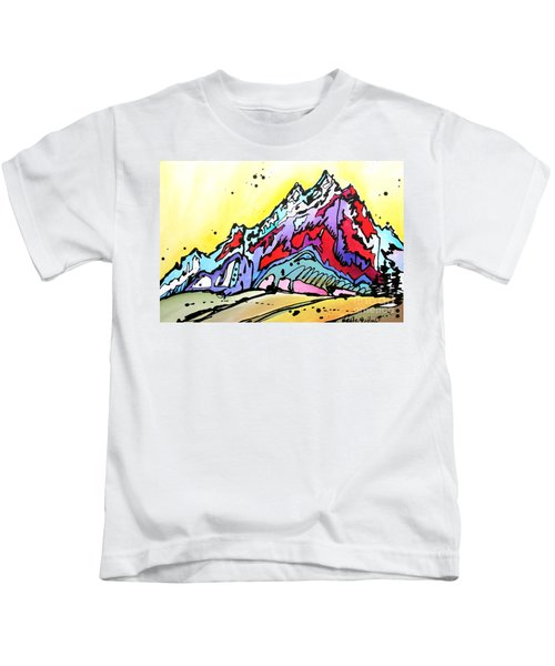 Waning Seasons In The Tetons Kids T-Shirt