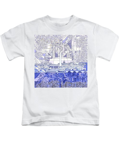 Washington Dc Skyline Abstract 3 Kids T-Shirt