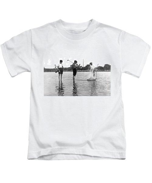 Water Hazard On Golf Course Kids T-Shirt