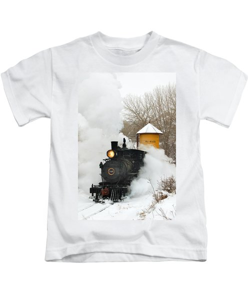 Water Tower Behind The Steam Kids T-Shirt