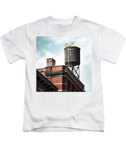Water Tower In New York City - New York Water Tower 13 Kids T-Shirt
