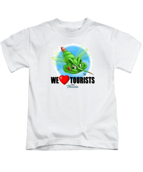 We Love Tourists Mosquito Kids T-Shirt