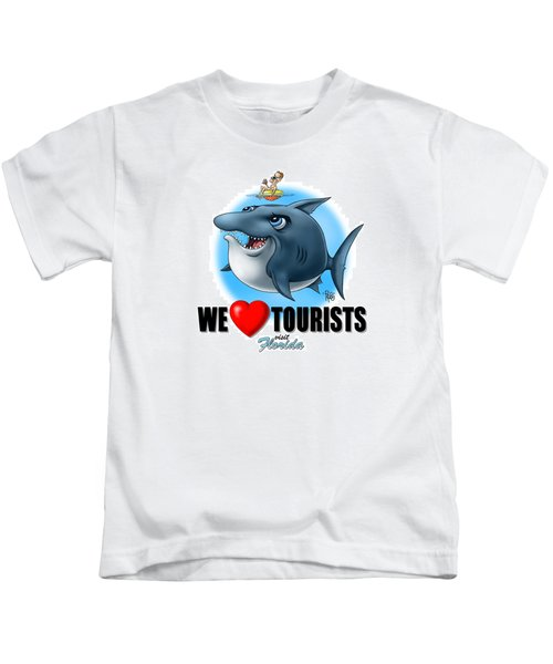 We Love Tourists Shark Kids T-Shirt