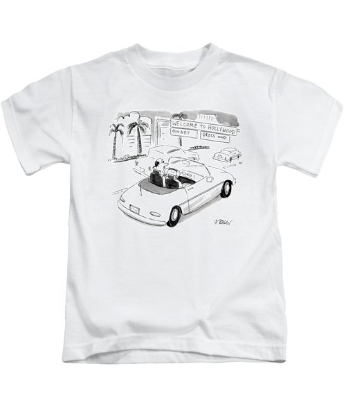 'welcome' To Hollywood 'net' Kids T-Shirt