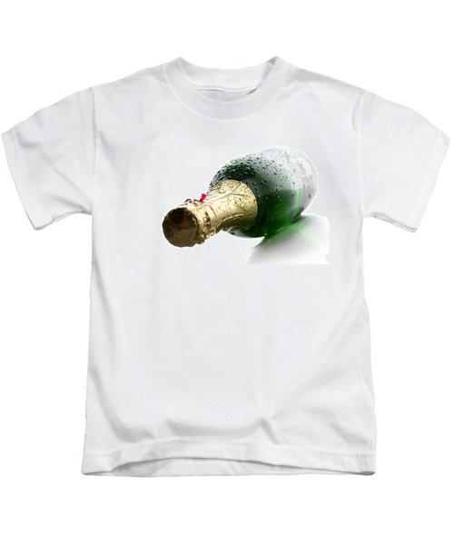 Wet Champagne Bottle Kids T-Shirt