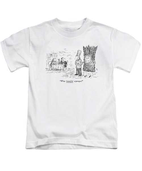 What Beautiful Asparagus! Kids T-Shirt by Edward Koren
