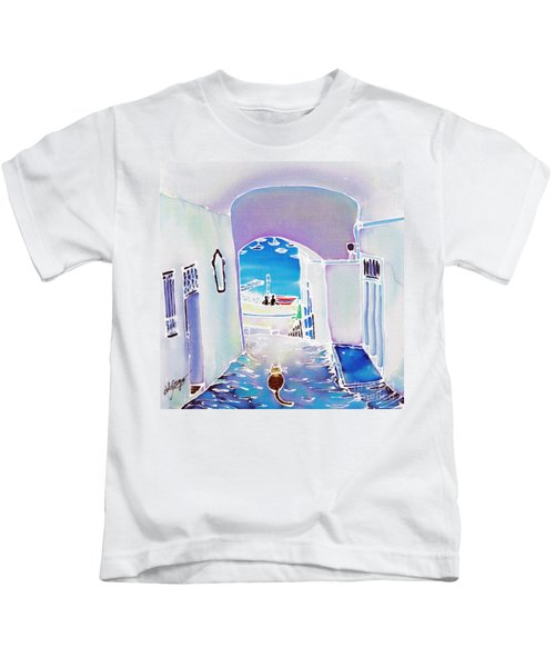 White And Blue 1 Kids T-Shirt
