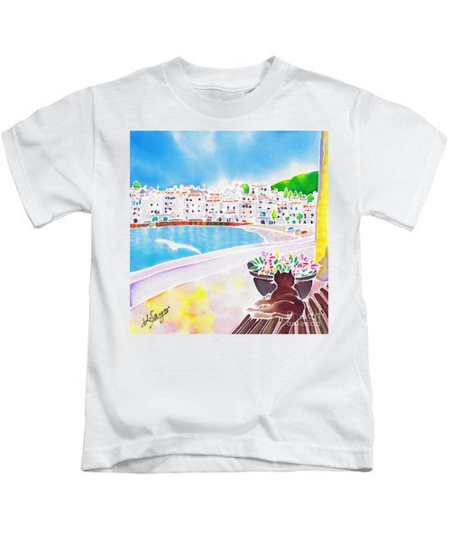 White And Blue 2 Kids T-Shirt