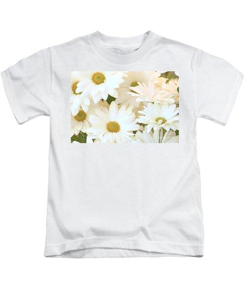 White Chrysanthemums Kids T-Shirt