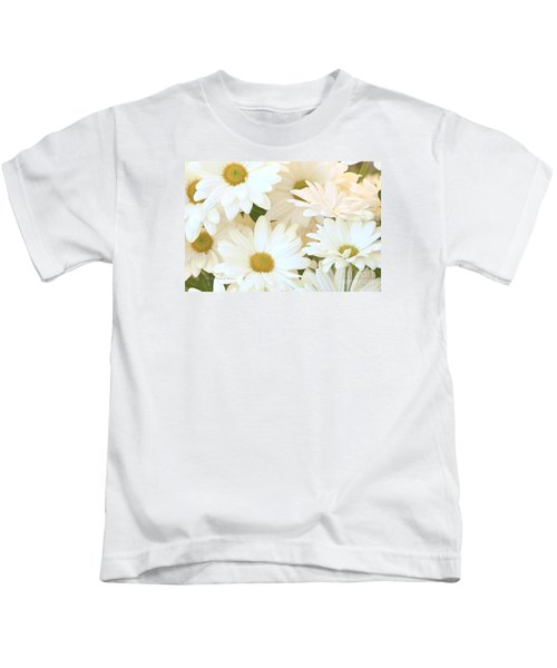 White Chrysanthemums Kids T-Shirt
