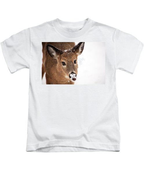 White On The Nose Kids T-Shirt