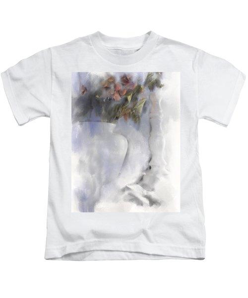 White Still Life Vase And Candlestick Kids T-Shirt