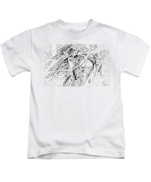 White-tail Encounter Kids T-Shirt