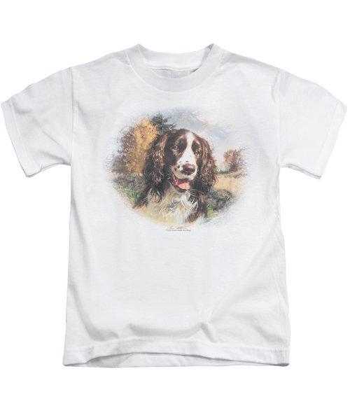 Wildlife - Springer Spaniel Head Kids T-Shirt